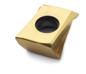 Esempio di un inserto progettato per fresatura di acciaio: LOEX080404TR-M08, F40M.