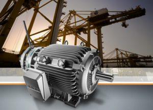 Hocheffiziente Simotics-Kranmotoren für Seehäfen / Highly efficient Simotics crane motors for seaports