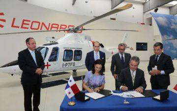 Finmeccanica riceve un'importante visita da Panama