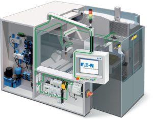 """Figura 3: il """"cablaggio intelligente"""" favorisce la scalabilità della macchina, sia nel quadro elettrico che in campo, riducendo i tempi di cablaggio, collaudo e messa in servizio fino all'85%."""